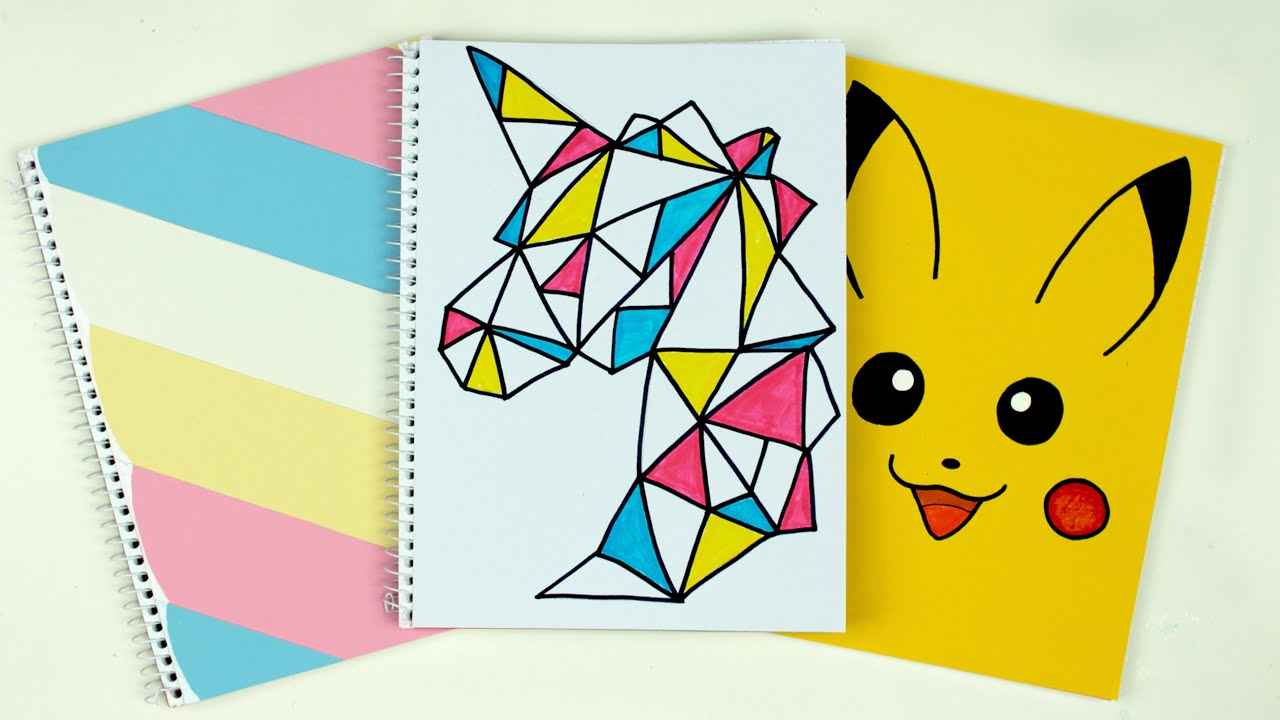 Diy Notebook Cover Ideas : Diy notebook covers cutify back to school supplies