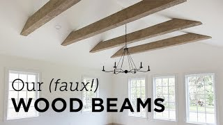 Our New (faux!) Wood Beams & Install