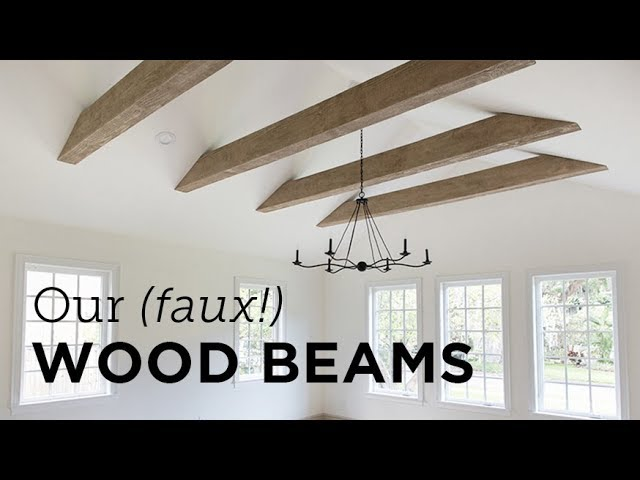 Our New Faux Wood Beams Install Youtube