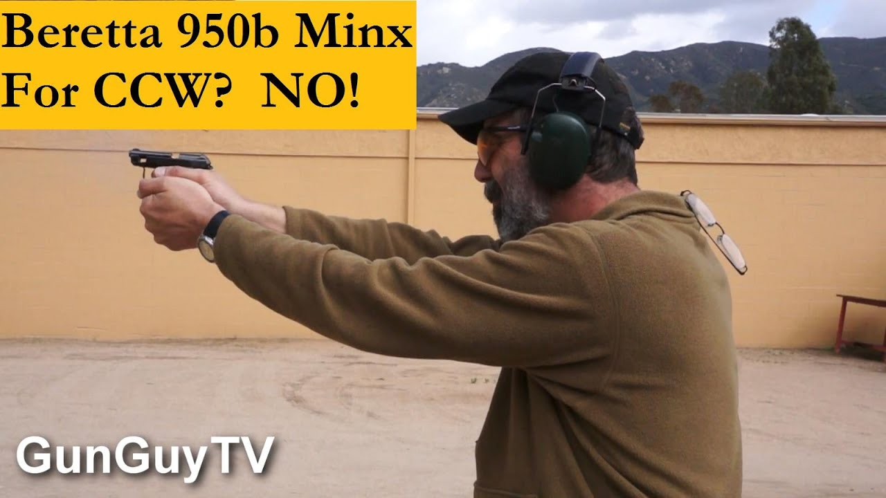 Beretta 950b Minx for concealed carry? No Way!