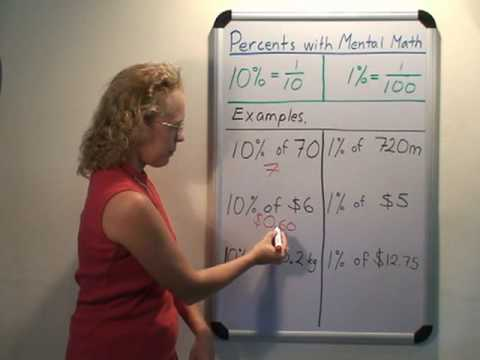Calculate Percentages With Mental Math