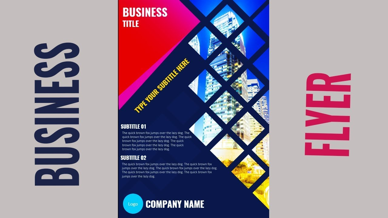 Attractive PowerPoint Slide Design Tutorial | Cover Slide | Title Slide | Flyer | Brochure | PPT