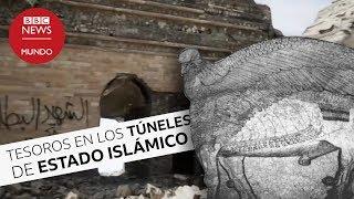 Los tesoros arqueológicos hallados en los túneles de Estado Islámico en Irak