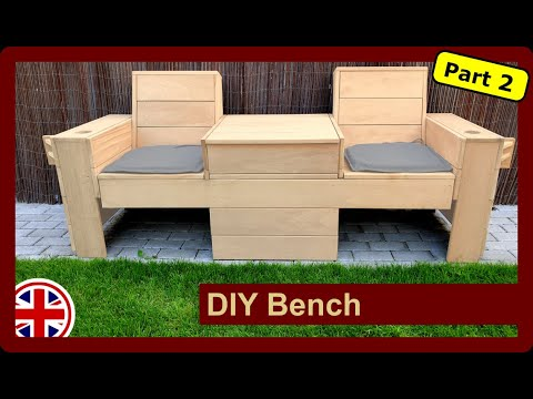 Bench with integrated cooler for the yard to build yourself Part 2