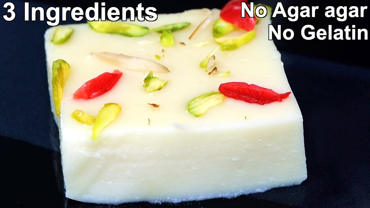 Easy Milk Pudding Recipe  - No Agar Agar & Gelatin -  Milk Dessert Recipe
