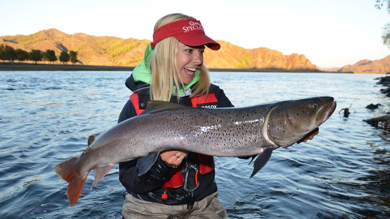 Babs fishing in mongolia taimen and trouts youtube for Taimen fishing mongolia