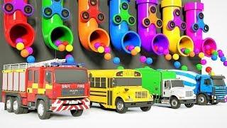 Camion Tracteur pour enfants voiture apprendre les couleurs train