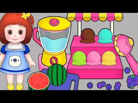 Baby doli juice and Ice cream maker play and baby doll toys
