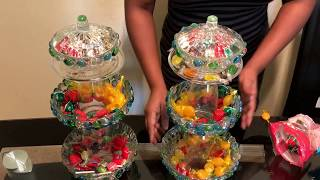 DIY candy dish/dollar tree candy dish for party-weddings-baby shower or at home centerpiece