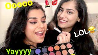 Sister does my Desi Makeup (Punjabi+English)