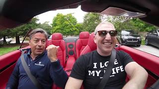 Test drives in the Maserati Granturismo and Ferrari GTC4LussoT