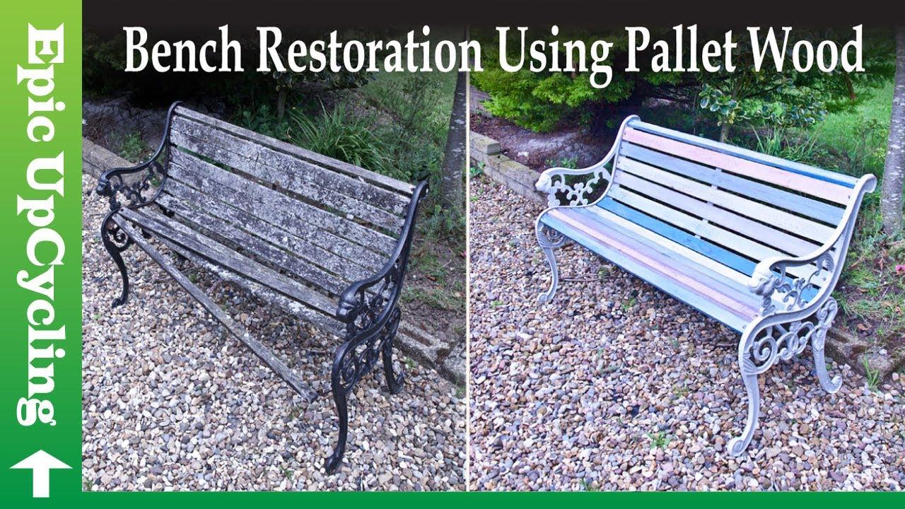 Garden Bench Restoration Using Pallet Wood