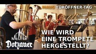 Türöffnertag 2012 Herstellung einer Trompete