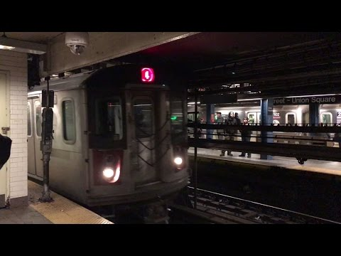 NYC Subway HD 60fps: 5 Minutes of Lexington Avenue Service @ 14th Street - Union Square (12/17/16)