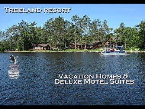Treeland Resort   Chippewa Flowage   Hayward, WI Vacation Homes & Motel Suites