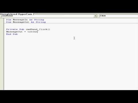 By Sdk,LAN Chat Program Simple Tutorial Visual Basic Network