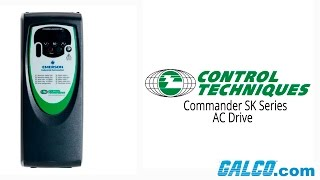 Control Techniques Commander SK Series AC Drives(Control Techniques Commander SK Series AC Drives presented by Galco TV. Buy the items featured in this video at 800-337-1720 or ..., 2016-03-03T21:42:56.000Z)