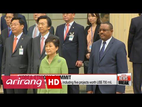 Korea, Ethiopia hold summits, with economic cooperation in focus