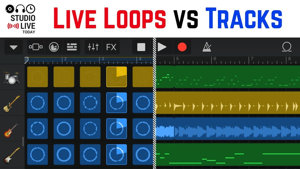 How To Use Live Loops And Tracks View In Garageband Ios Ipad