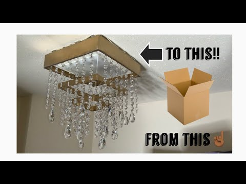 DIY Chandelier... Out of CARDBOARD! 🤯
