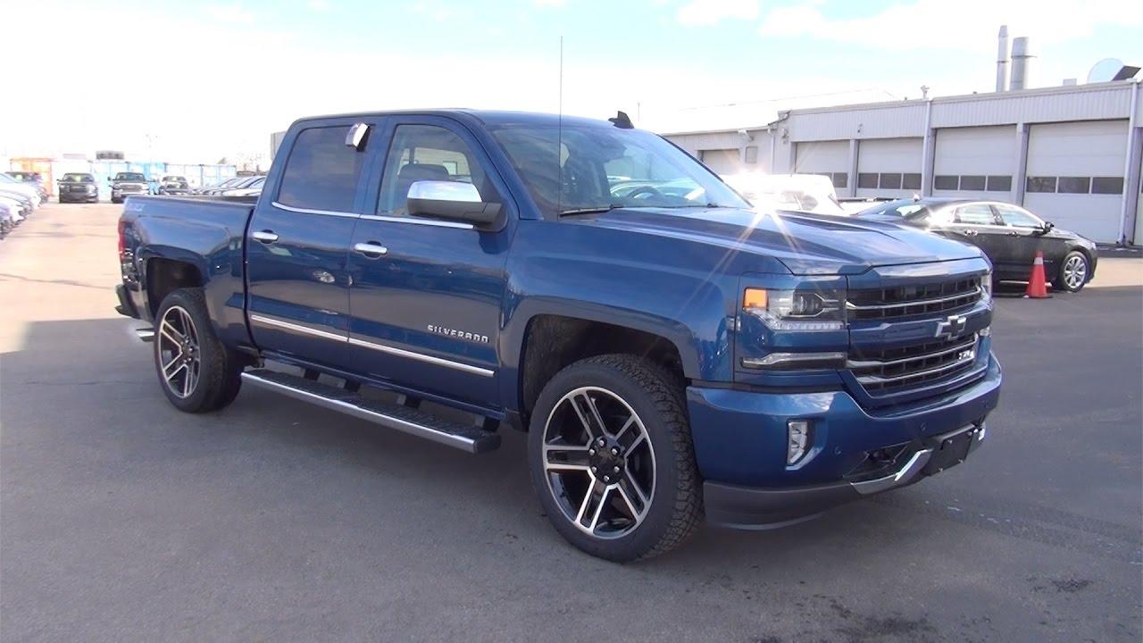 Blue Chevy Silverado >> 2017 Chevrolet Silverado 1500 Crew Cab Short Box Ltz 22 Rims Ocean Blue