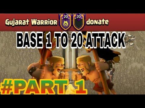 Amazing TH12 Attacks and Strategies on Anti 3 Star War Base | Gujarat Warrior vs Donate PART 1