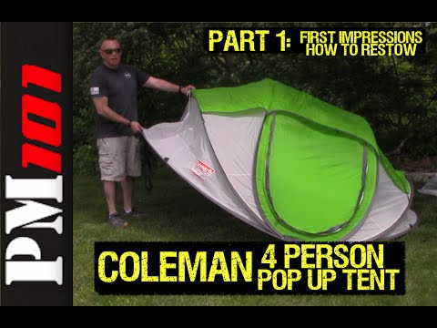 Coleman 4-Person Pop Up Tent Part 1 First Impressions/Restow - Preparedmind101  sc 1 st  YouTube : coleman 4 person instant up tent - memphite.com