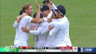 Stuart Broad takes 5-1 - England v South Africa cricket