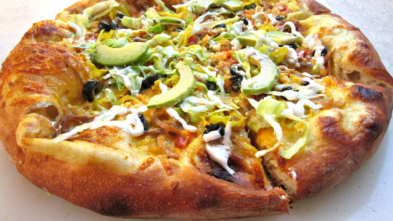 nacho pizza mexican and italian infused pizza poormansgourmet youtube. Black Bedroom Furniture Sets. Home Design Ideas