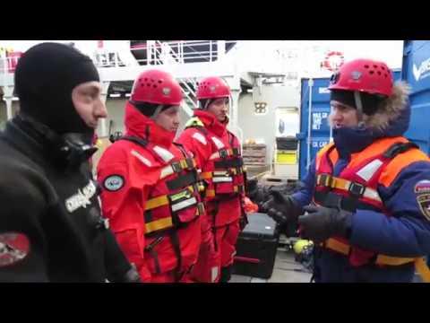 видео: Спасатели обследовали фюзеляж потерпевшего крушение вертолета Ми-8