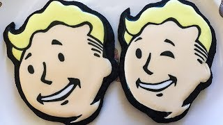 We made VAULT BOY COOKIES from Fallout 4!