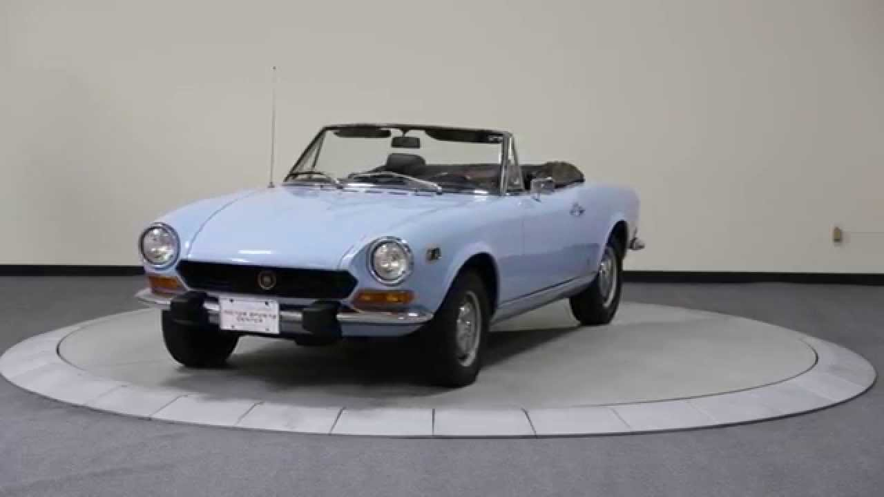 1973 fiat 124 spider youtube. Black Bedroom Furniture Sets. Home Design Ideas