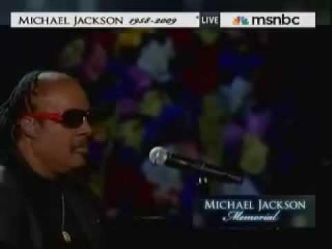 Stevie Wonder singing at
