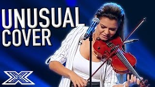 UNSUAL VIOLIN Cover on The X Factor Romania! X Factor Global
