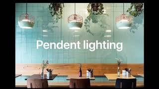 Pendent lighting design 펜던트 조명…