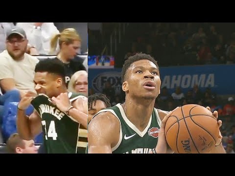Giannis Rips His Jersey By Biting After Airball Free Throws Then Destroys Entire Thunder!