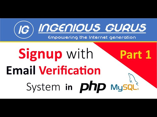 Signup with Email Verification in PHP & MySQLi - Part 1 - Urdu/Hindi