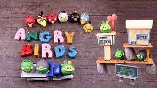Angry Birds and Barbapapa ABC Alphabet - Pig Strike City