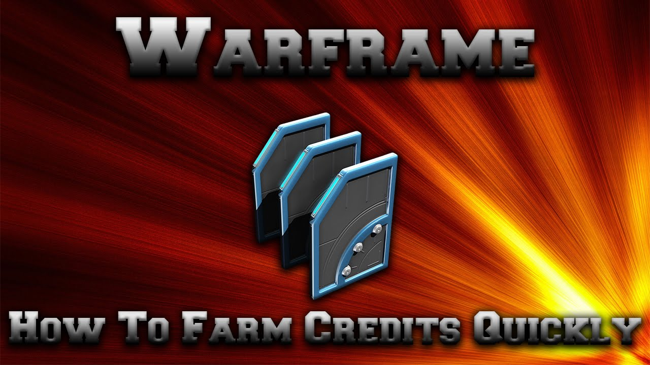 Warframe - How To Farm Credits Quickly - YouTube