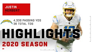Justin Herbert Full Rookie Season Highlights | NFL 2020