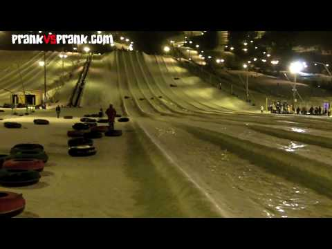 Girlfriend Snow Tubing Pwnd Prank