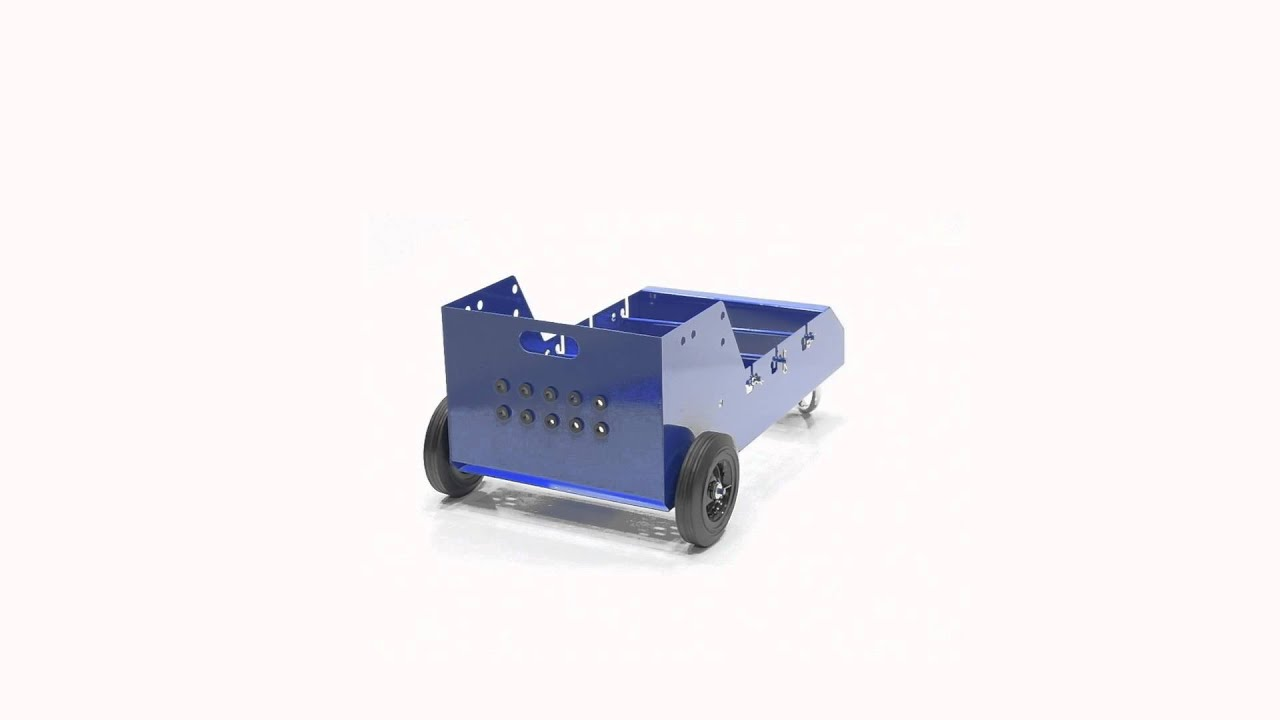 WIRE-D-WHK Wire Reel Caddy Portable Unit (Casters & Handle) - YouTube