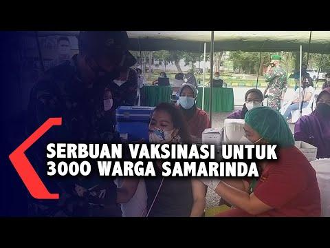 Pangdam VI Mulawarman Vaksin 3000 Warga Samarinda