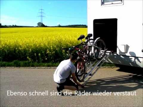 easy bike trolley fahrradtr youtube. Black Bedroom Furniture Sets. Home Design Ideas