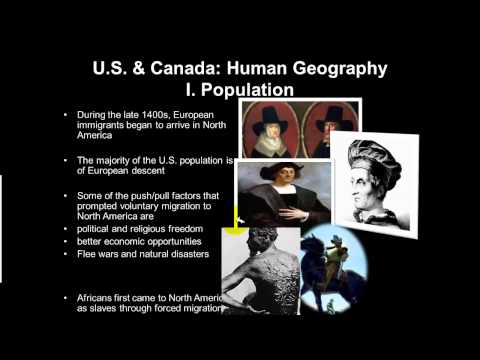 North America Human Geography Part 1