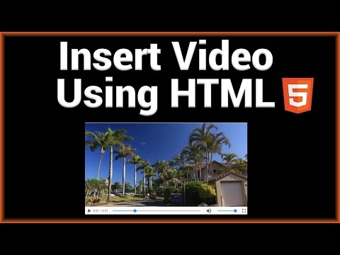 Insert Video Into A Website Using HTML5