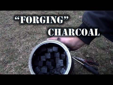 Making Charcoal While Forging - Sharp Works