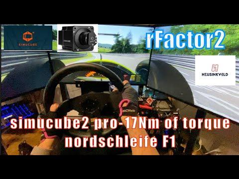 rFactor2 simucube2 pro 17Nm of torque nordschleife F1  