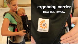 ErgoBaby Original Baby Carrier - REVIEW & HOW TO Use with Newborn (without infant insert)(This is a review of the