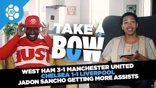 Jose Mourinho Vs Paul Pogba, Chelsea 1-1 Liverpool, Jadon Sancho Assists - Take a Bow